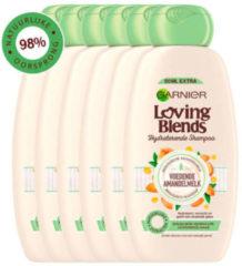 Garnier Loving Blends Shampoo - Voedende Amandelmelk - Lichtdroog Haar - 6 x 300 ml - Voordeelverpakking