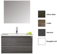 Badkamermeubelset Sanicare Q7 Twee Soft-Close Laden Greeploos 85 cm (alle kleuren, spiegel optioneel)