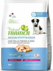 3 kg Natural trainer dog puppy / junior medium chicken hondenvoer
