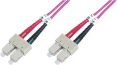 LOGON AL5SCSC10I/4I 10m 2x SC 2x SC OM4 Roze Glasvezel kabel