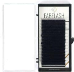 Zwarte Fabelash Wimperextensions D curl dikte 0,07 mm lengte 9 mm 16 rijen