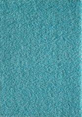 Blauwe Basic Collection Vloerkleed turquiose Effen Hoogpolig Tapijt Loca - 200x290 cm