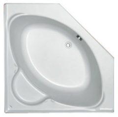 Plieger Contour compact hoekbad acryl vijfhoekig 125x125x42cm met poten wit 0940900