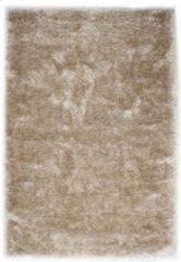 Zandkleurige Karpet24.nl Hoogpolig Glanzend Vloerkleed Zand-120 x 170 cm