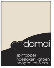 Beige Damai Topcover katoen 180 x 200 (08) silver sand BI-inkeping enkel (tot 8 cm) Nightkiss