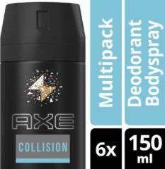 AXE Bodyspray Deodorant Collision 150 ML - 6 stuks - voordeelverpakking