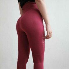 Go Go Gadget Yoga Broek - Bordeauxpaars - Naadloos - Hoge Taille - Legging - Fitness - Maat M