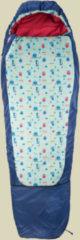Grüezi bag Kids Grow Funny Monster Kinder Schlafsack bis Körpergröße Schlafsack 155 cm blau, Schlafsack links