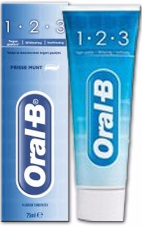 Afbeelding van Oral-B 1-2-3 Fresh Mint Tandpasta 75ml (1 Statube van 75 ml)