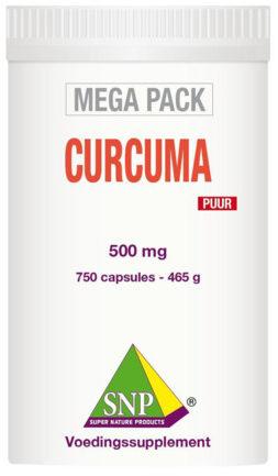Afbeelding van SNP Curcuma puur megapack 750 Capsules