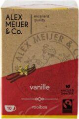 Rooibos Vanille Thee Grote Verpakking 60 zakjes 1,5 gram Alex Meijer Fair Trade