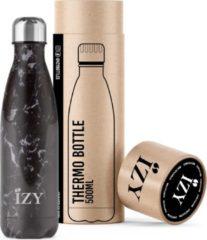 IZY Bottles IZY - drinkfles / thermosfles - 500 ml - Zwart Marmer