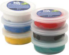 Creativ company Silk Clay - Klei- Set met 6 Basis Kleuren