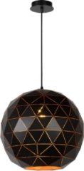 Zwarte Lucide Verstelbare Hanglamp Otona 1-Lichts Ø40 X H36 Cm - Metaal Zwart