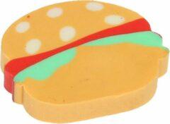 Lg-imports Gum Hamburger Junior 3 Cm Rubber Bruin/rood/groen
