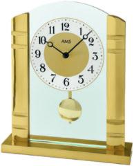 Gouden Kwartstafelklok met slinger, AMS