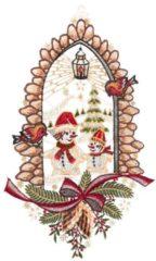 Fensterbild Schneemänner Bunt