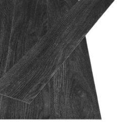 Zwarte VidaXL Vloerplanken zelfklevend 4,46 m² 3 mm PVC eiken antraciet