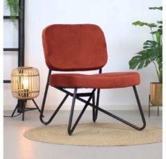 Bronx71 Moderne fauteuil Julia Velvet Koper