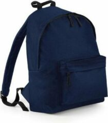 Marineblauwe Hippe rugtas met voorvak navy - Rugzak voor onderweg - Backpack - Schooltas