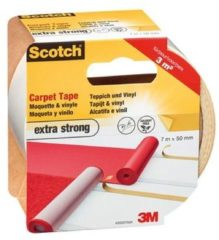 3M 42020750 Dubbelzijdig tape voor vloerbedekking Scotch Wit (l x b) 7 m x 50 mm 1 rol/rollen