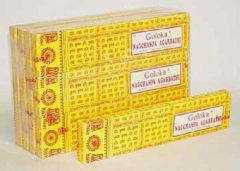 Bruine Wierookstokjes Goloka Nag Champa Agarbathi, 16 gr.