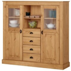 Highboard Norderney Notio Living A/S Natur gebeizt