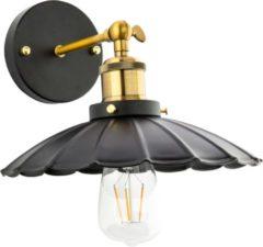 Zwarte Groenovatie Vintage Wandlamp Zwart Flower Design