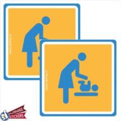 Blauwe Allerhande Stickers Baby verzorging stickers (set 2 stickers)