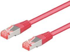 Goobay - S/FTP netwerkkabel CAT6a - Roze - 1 meter