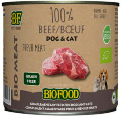 Biofood organic kat 100% rund blik kattenvoer 200 gr