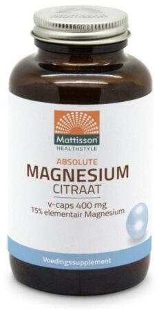 Afbeelding van Mattisson / Active Magnesium Citraat 400 - 180 vcaps