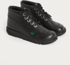 Kickers Kick Hi Black Leather Boots - Womens UK 5