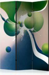 Beige Kamerscherm - Scheidingswand - Vouwscherm - Geometric explosion [Room Dividers] 135x172 - Artgeist Vouwscherm