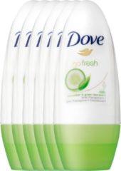 Dove Go Fresh Cucumber & groen Tea Women - 6 x 50 ml - Deodorant Roller - Voordeelverpakking