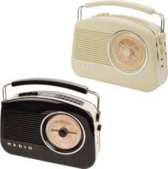 KOENIG König DAB+ Retro-Radio in verschiedenen Farben Farbe: Schwarz