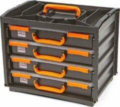 Oranje Lemato 5 Delige Draagbare Assortimentsdoos, Assortimentskoffer