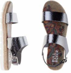 Grijze Bullboxer espadrilles - sandalen - maat 40 - dames - gunmetal - metallic