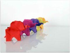 Paarse KuijsFotoprint Poster – Origami Olifanten - 40x30cm Foto op Posterpapier