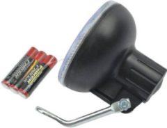 Zwarte Benson Fietskoplamp Profi Sport Met Bevestigingshaak en 3 x AAA Batterijen