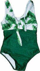 Become - Badpak groen met blaadjes (104-110)