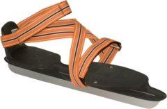 Kinderschaatsen - Platte zool - Nijdam - Zwart-Oranje - Maat 28-31 (SALE)