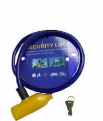 Duo Commerce fiets slot - Met 2 sleutels - Ijzer draad kleur; Blauw - Unisex beveiliging Fietsslot