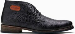 Donkerblauwe Paulo Bellini Boots Tėmpio Baby Croco Leather Dark Blue.