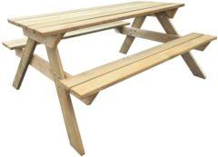 Beige VidaXL Picknicktafel 150x135x71,5 cm FSC hout