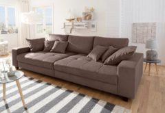 Home affaire Big-Sofa »Greenwich«, unifarben, mit feiner Steppung, 300 cm, Breite