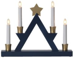 Kerzenhalter Julle Star Trading Blau