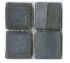 Antraciet-grijze Mozaiek tegel Sicis Natural Collection 30x30cm Mud