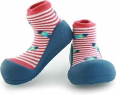Attipas UFO rood babyschoenen, ergonomische Baby slippers, slofjes maat 19 , 3-6 maanden