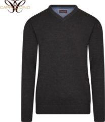 Cappuccino Italia - Heren Sweaters Pullover Charcoal - Grijs - Maat XXL